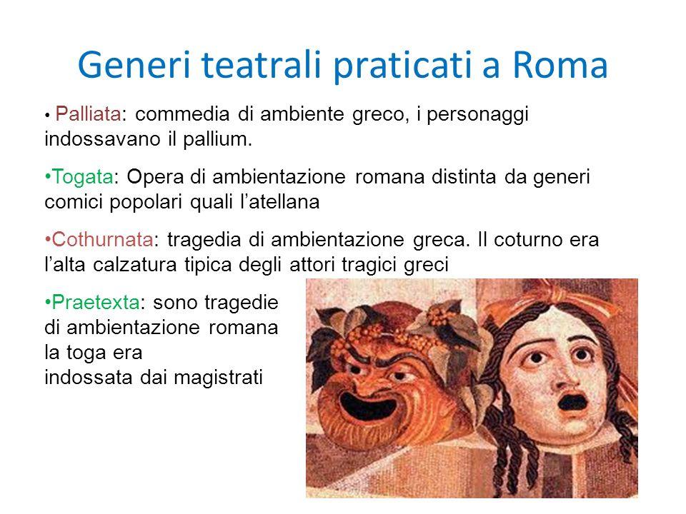 Generi teatrali praticati a Roma