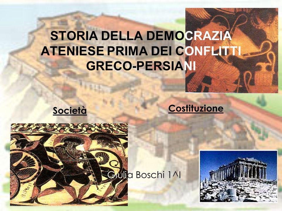 STORIA DELLA DEMOCRAZIA ATENIESE PRIMA DEI CONFLITTI GRECO-PERSIANI