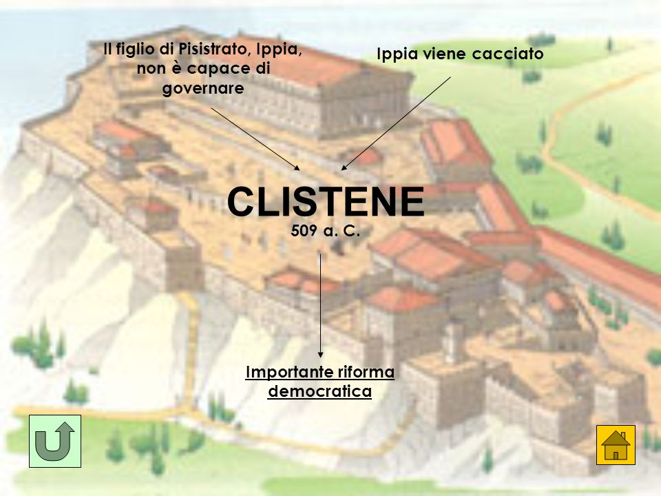 CLISTENE Il figlio di Pisistrato, Ippia, non è capace di governare
