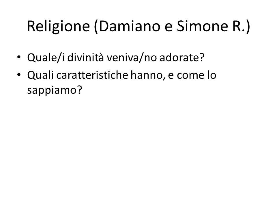Religione (Damiano e Simone R.)