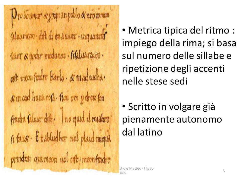 Realizzata da Alessandro e Matteo - I liceo classico