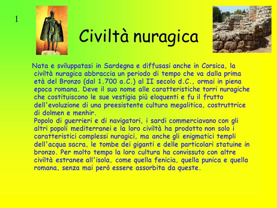 1 Civiltà nuragica.