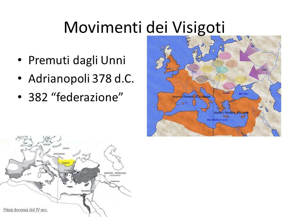 Movimenti dei Visigoti