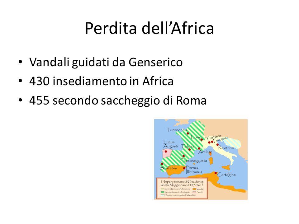 Perdita dell'Africa Vandali guidati da Genserico
