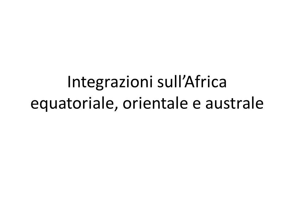 Integrazioni sull'Africa equatoriale, orientale e australe