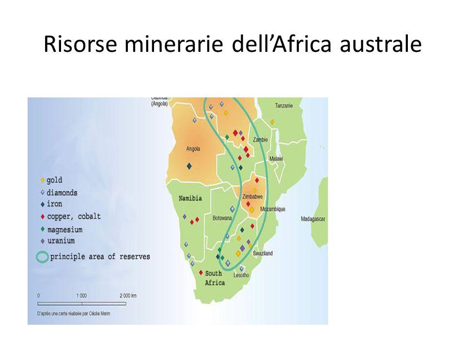Risorse minerarie dell'Africa australe