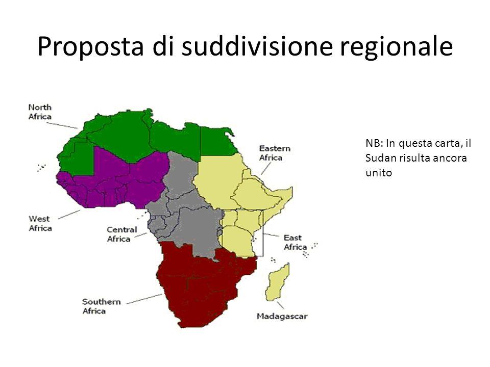 Proposta di suddivisione regionale