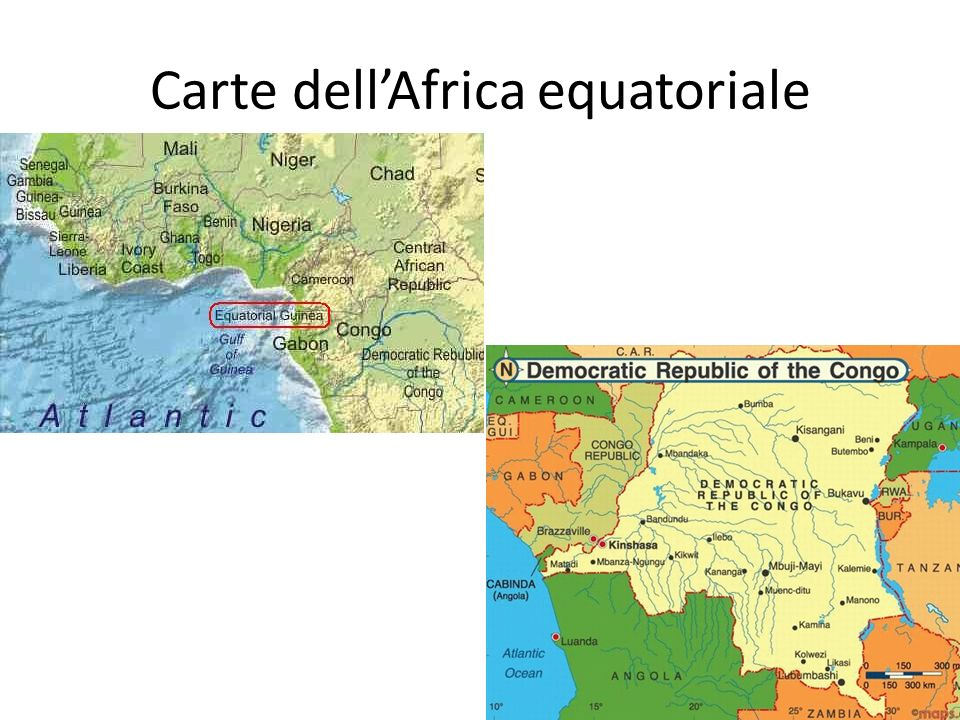 Carte dell'Africa equatoriale