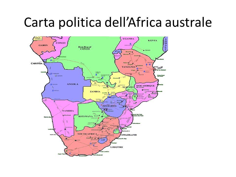 Carta politica dell'Africa australe