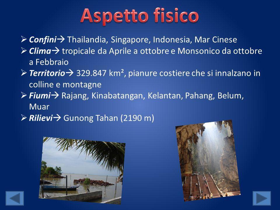 Aspetto fisico Confini Thailandia, Singapore, Indonesia, Mar Cinese