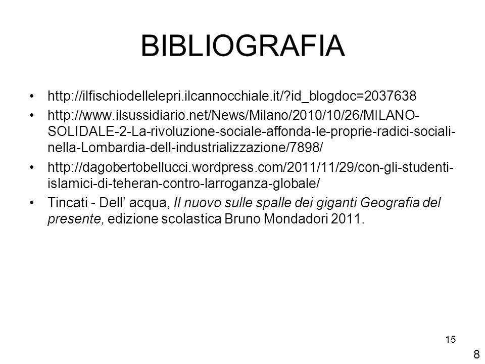 BIBLIOGRAFIA http://ilfischiodellelepri.ilcannocchiale.it/ id_blogdoc=2037638.