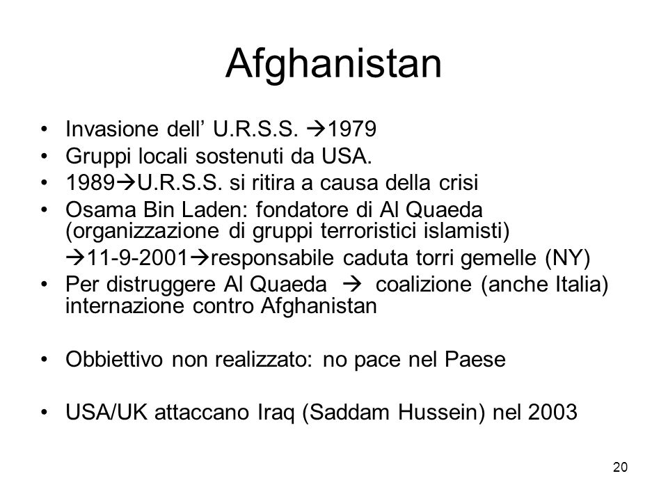 Afghanistan Invasione dell' U.R.S.S. 1979
