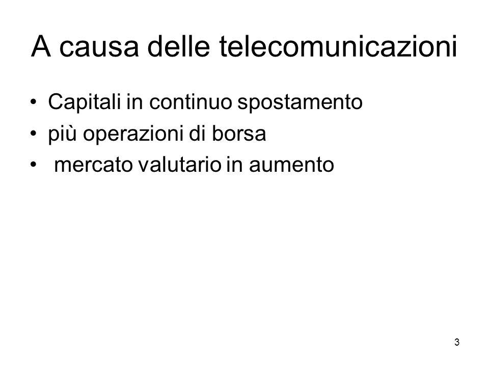 A causa delle telecomunicazioni