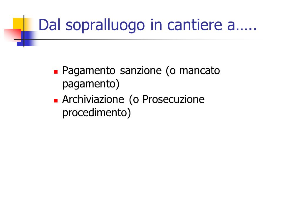 Dal sopralluogo in cantiere a…..