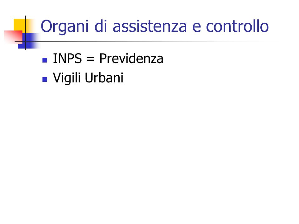 Organi di assistenza e controllo