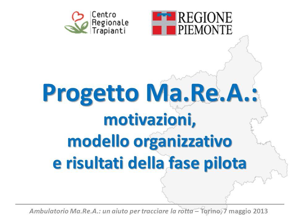 Progetto Ma.Re.A.: motivazioni, modello organizzativo e risultati della fase pilota