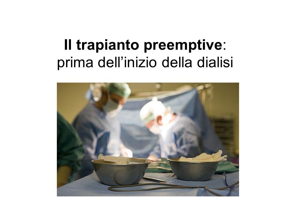 Il trapianto preemptive: prima dell'inizio della dialisi