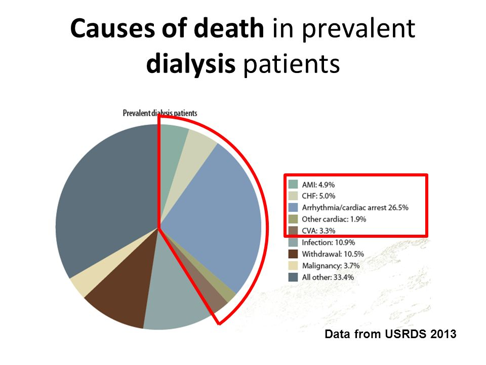 Causes of death in prevalent dialysis patients