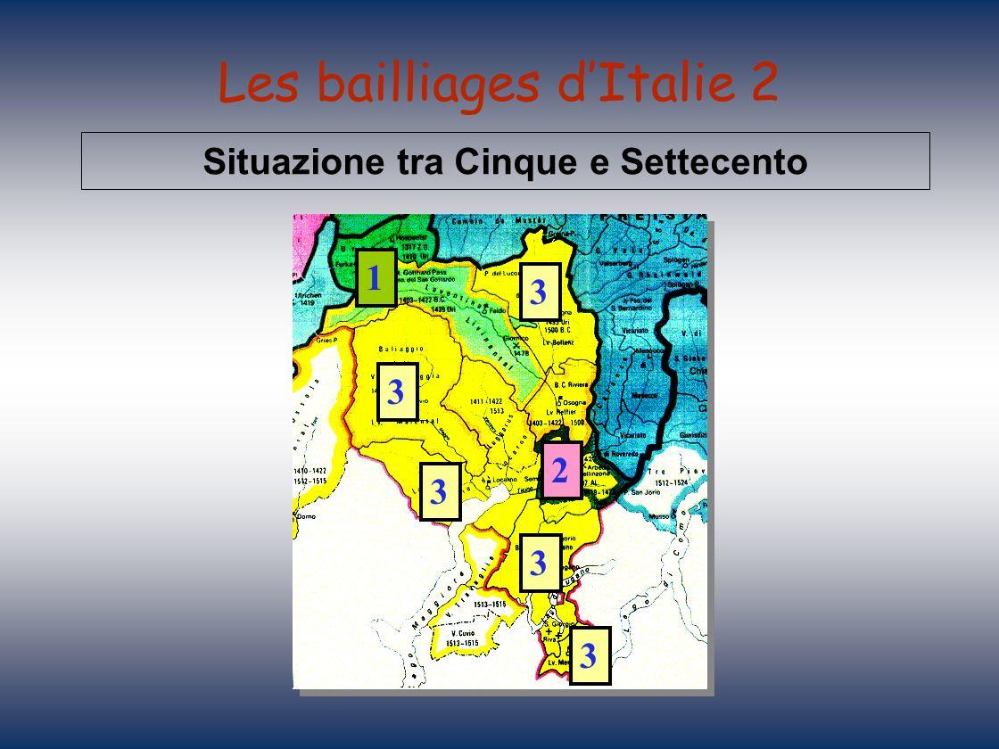 Les bailliages d'Italie 2