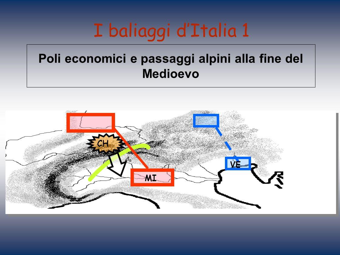 Poli economici e passaggi alpini alla fine del Medioevo