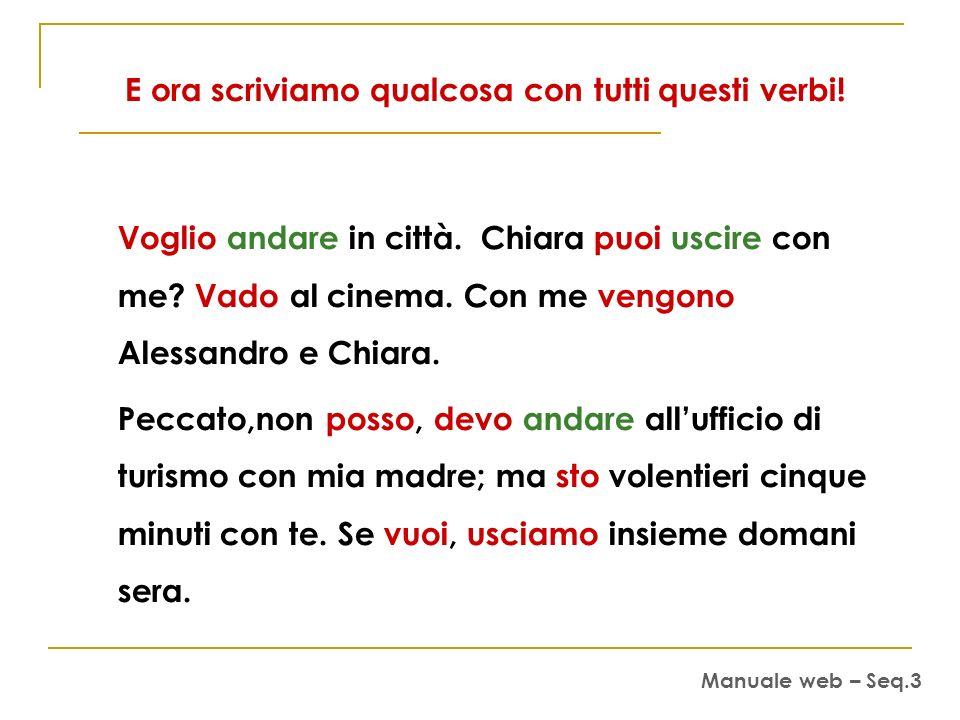 E ora scriviamo qualcosa con tutti questi verbi!
