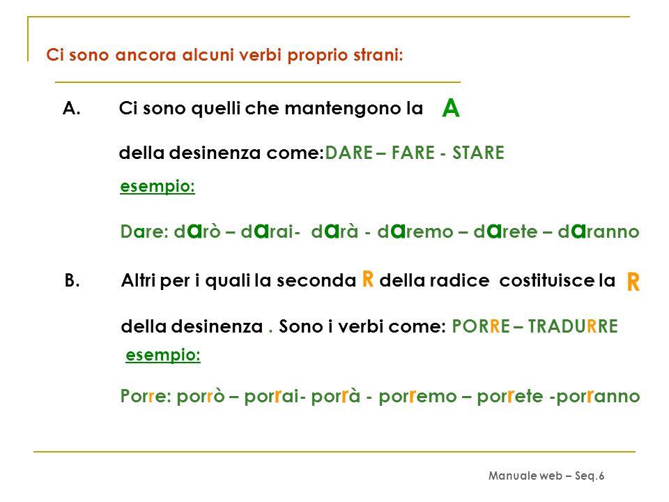 Ci sono ancora alcuni verbi proprio strani: