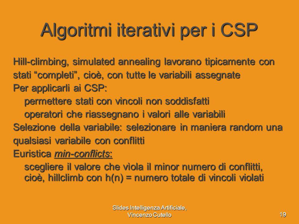Algoritmi iterativi per i CSP