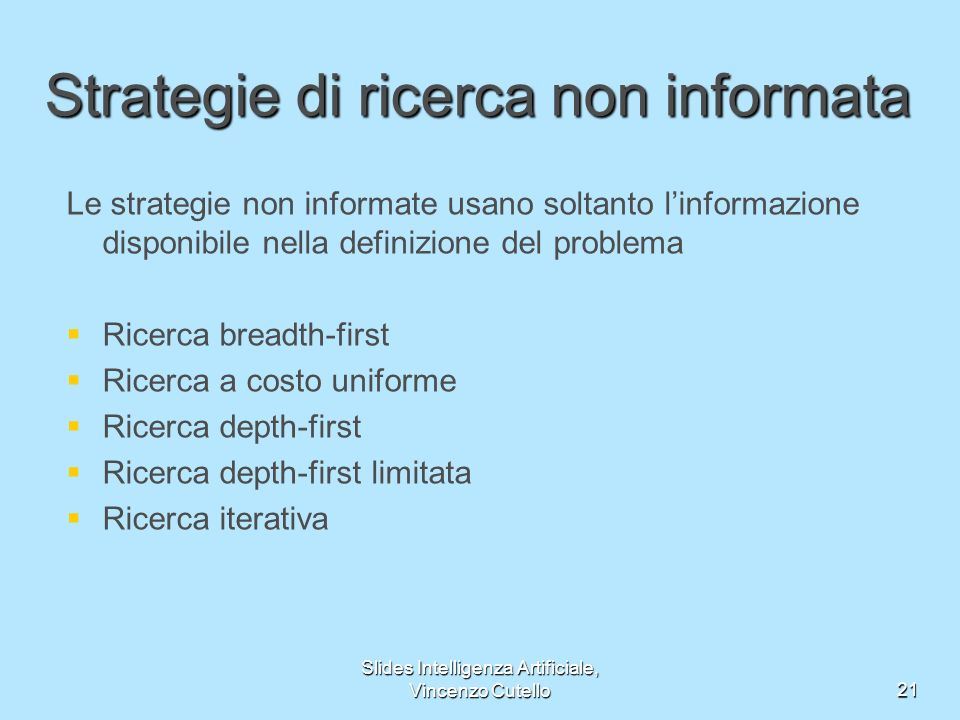 Strategie di ricerca non informata