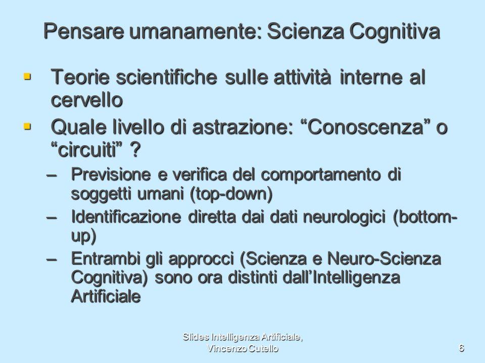 Pensare umanamente: Scienza Cognitiva