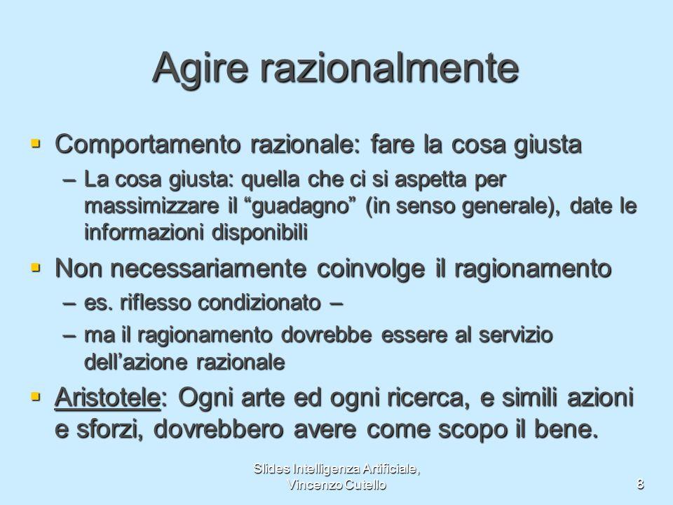 Slides Intelligenza Artificiale, Vincenzo Cutello