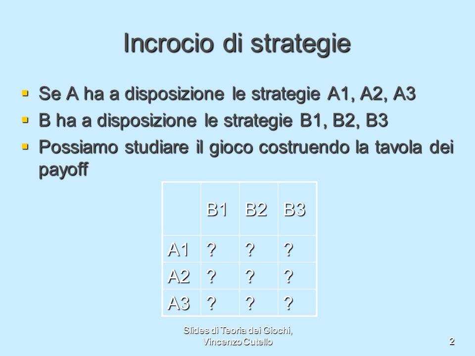 Slides di Teoria dei Giochi, Vincenzo Cutello