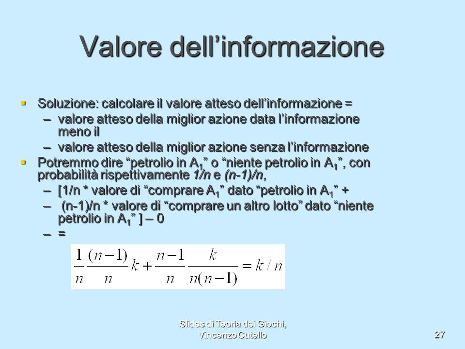 Valore dell'informazione