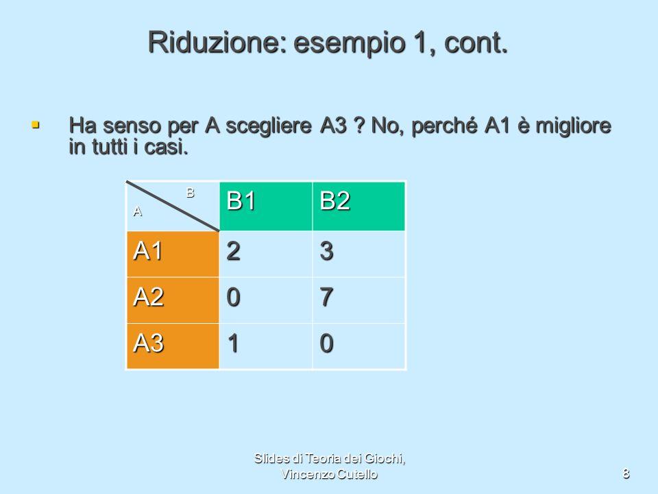 Riduzione: esempio 1, cont.