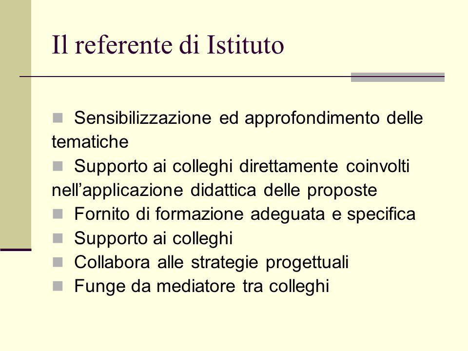 Il referente di Istituto