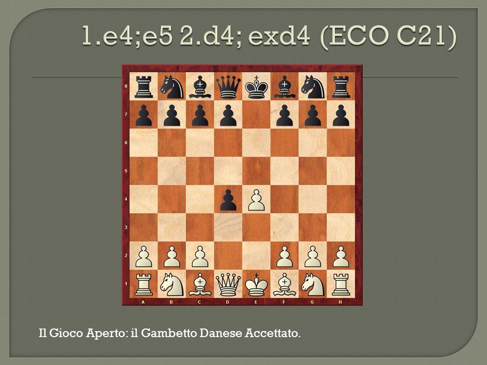 1.e4;e5 2.d4; exd4 (ECO C21) Il Gioco Aperto: il Gambetto Danese Accettato.