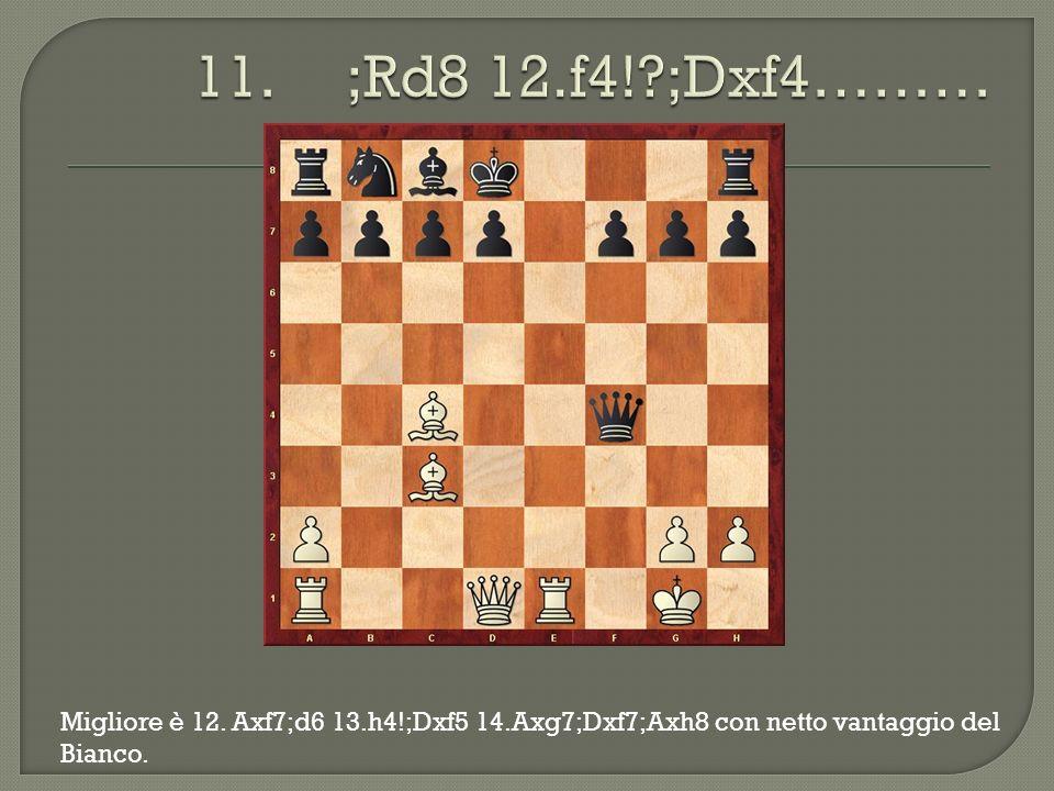 11. ;Rd8 12.f4! ;Dxf4……… Migliore è 12.