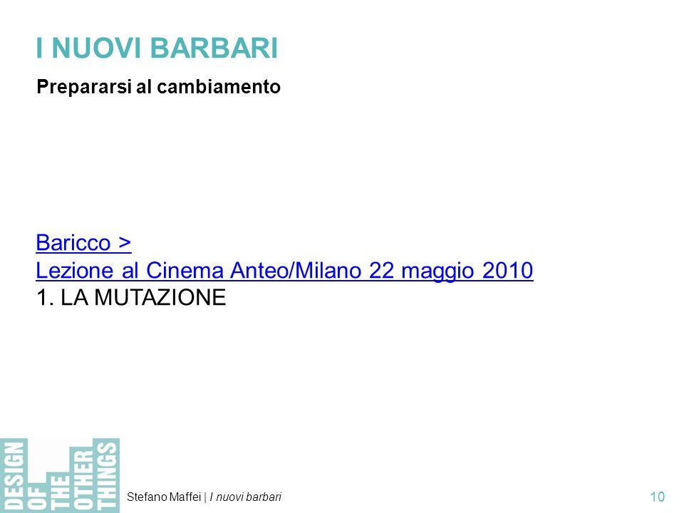I NUOVI BARBARI Baricco >