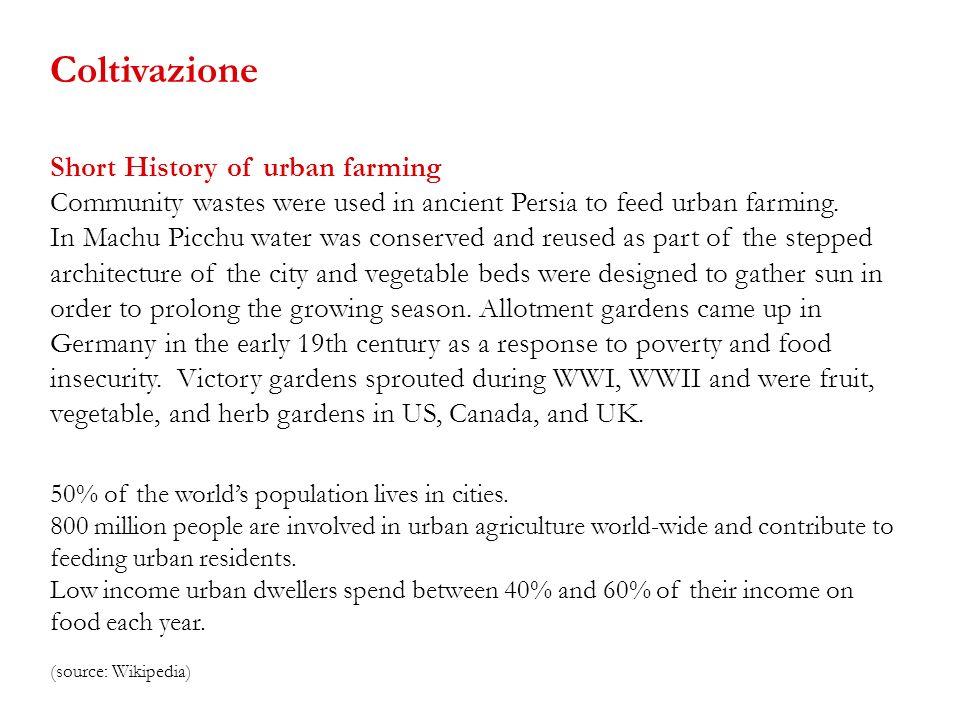 Coltivazione Short History of urban farming