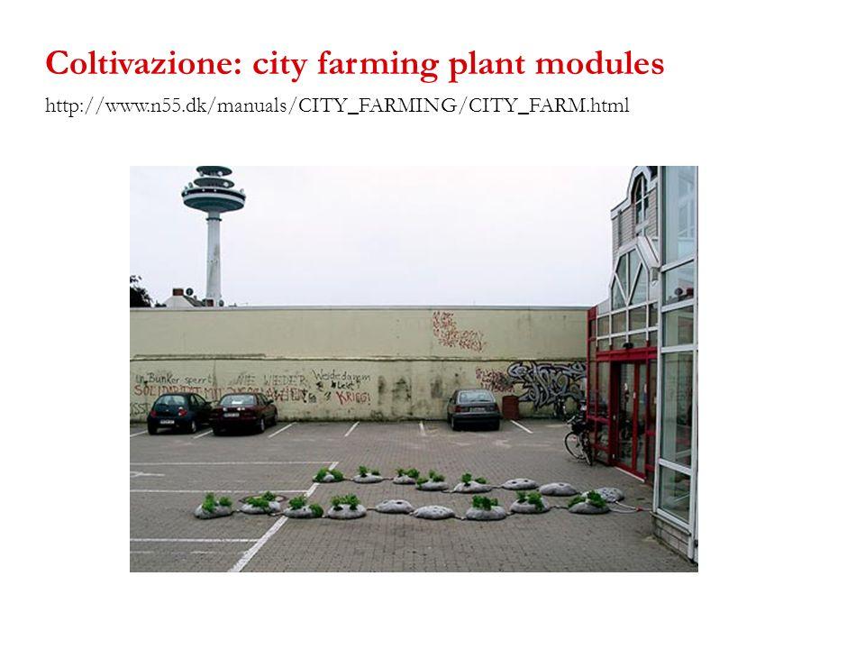 Coltivazione: city farming plant modules