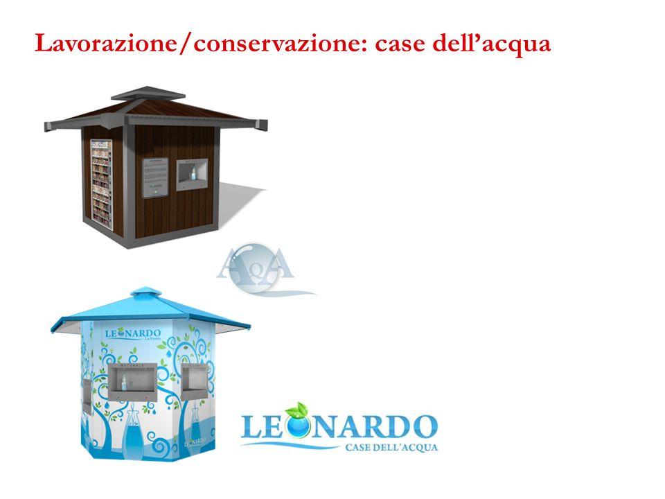 Lavorazione/conservazione: case dell'acqua