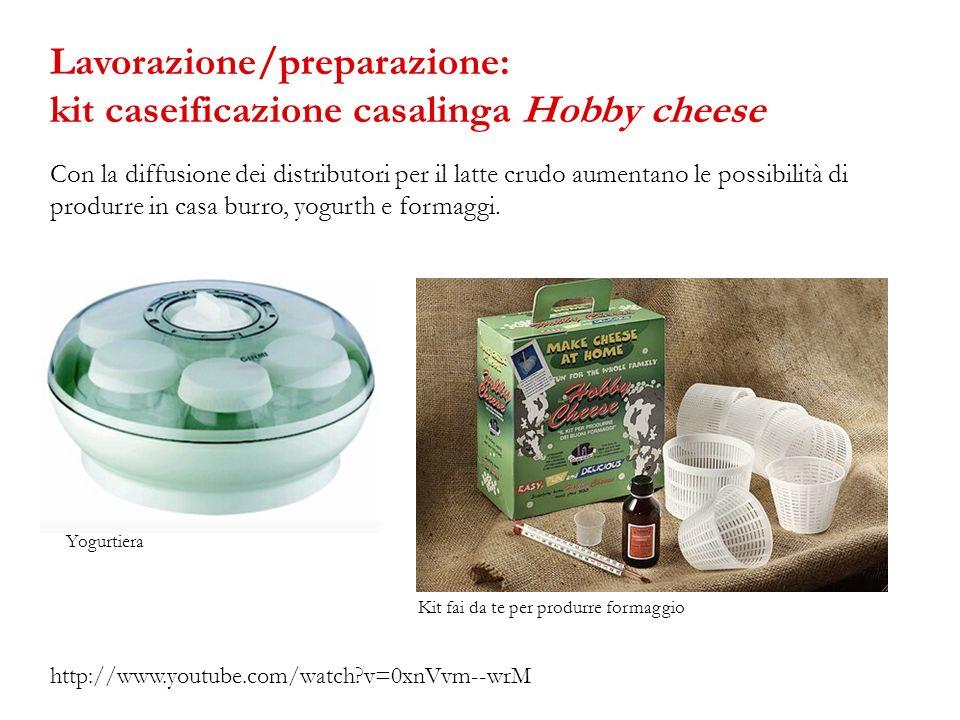 Lavorazione/preparazione: kit caseificazione casalinga Hobby cheese