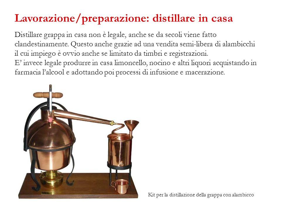 Lavorazione/preparazione: distillare in casa