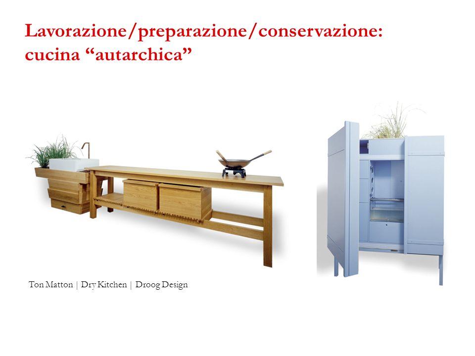 Lavorazione/preparazione/conservazione: cucina autarchica
