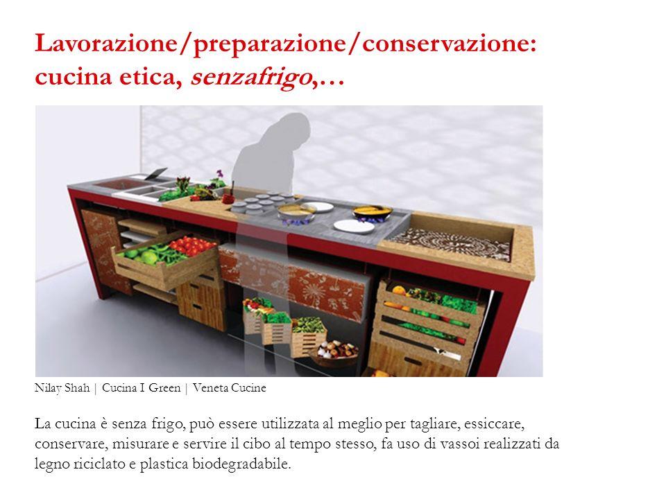 Lavorazione/preparazione/conservazione: cucina etica, senzafrigo,…
