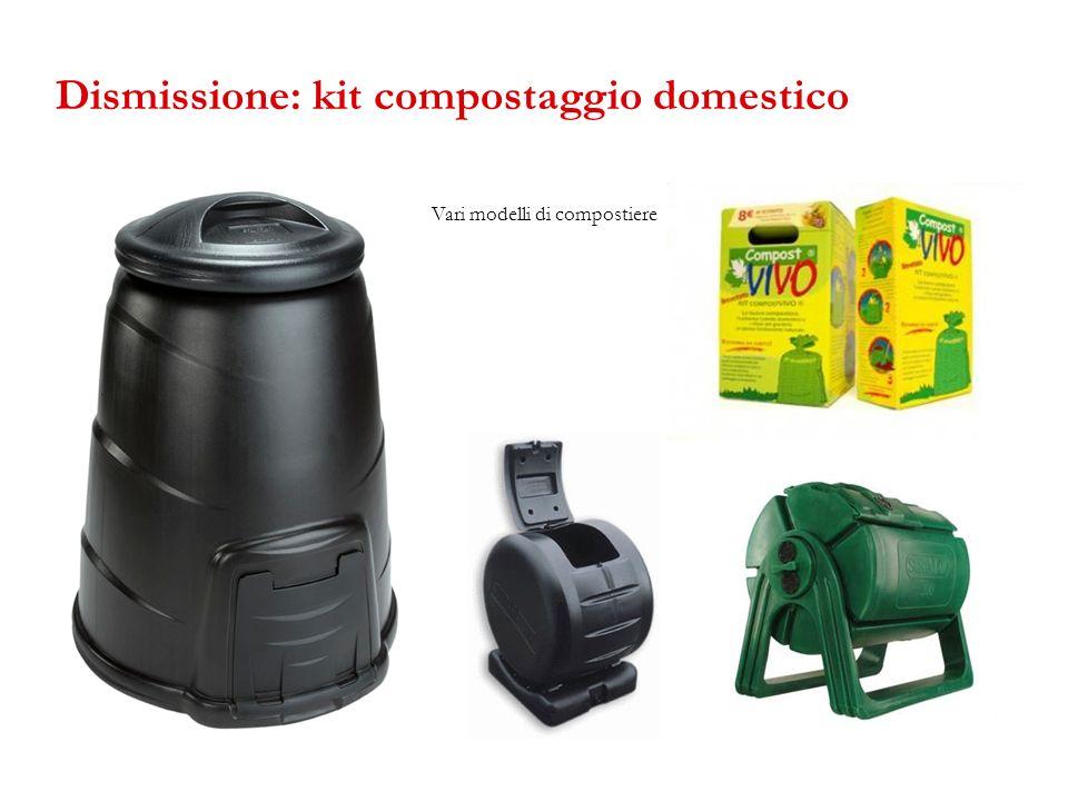 Dismissione: kit compostaggio domestico
