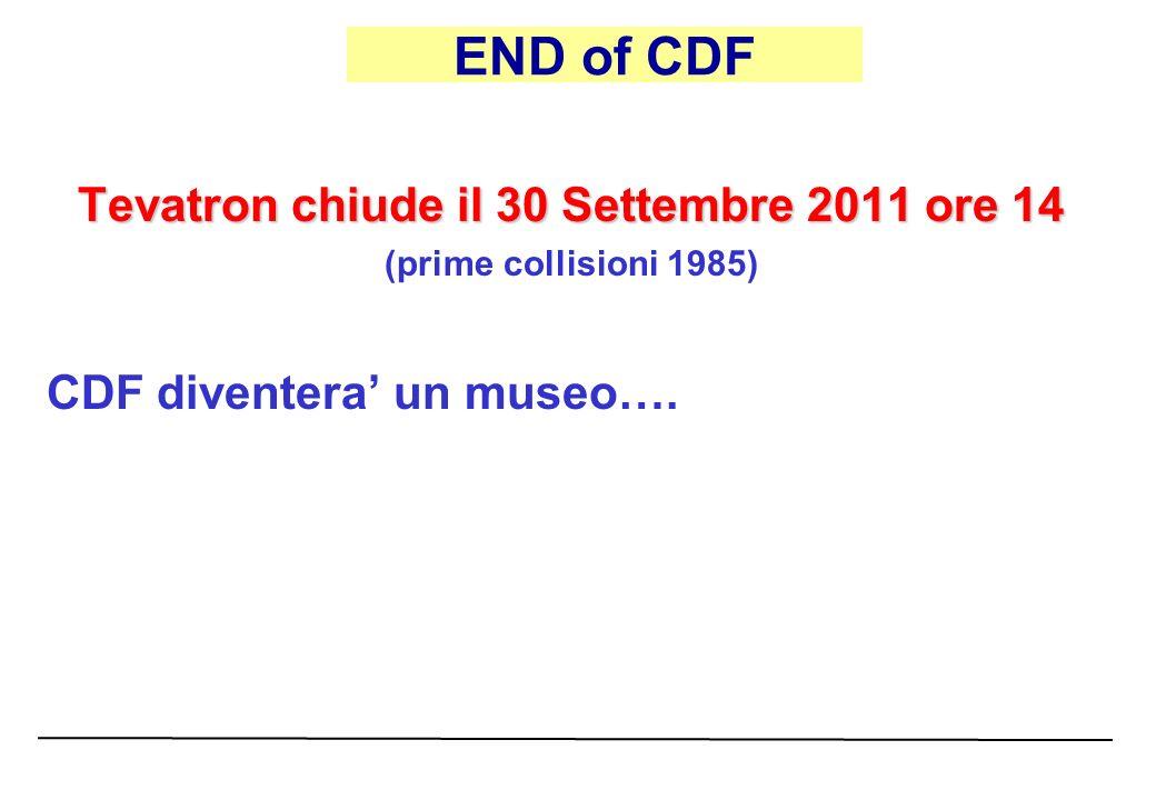 Tevatron chiude il 30 Settembre 2011 ore 14