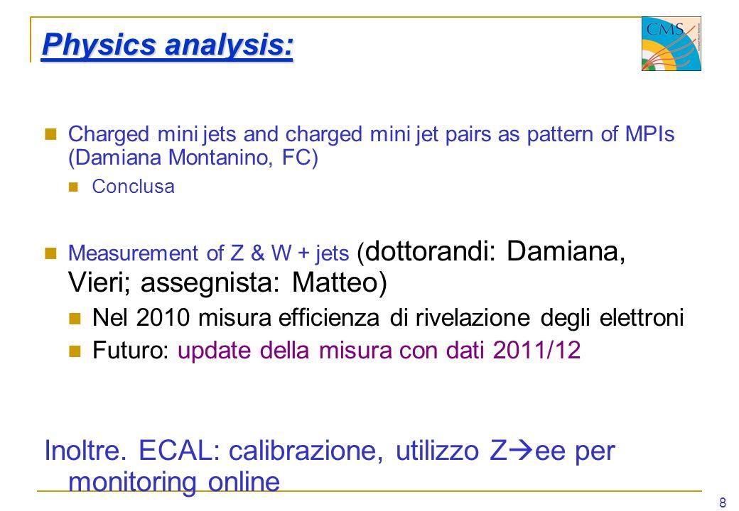 Inoltre. ECAL: calibrazione, utilizzo Zee per monitoring online