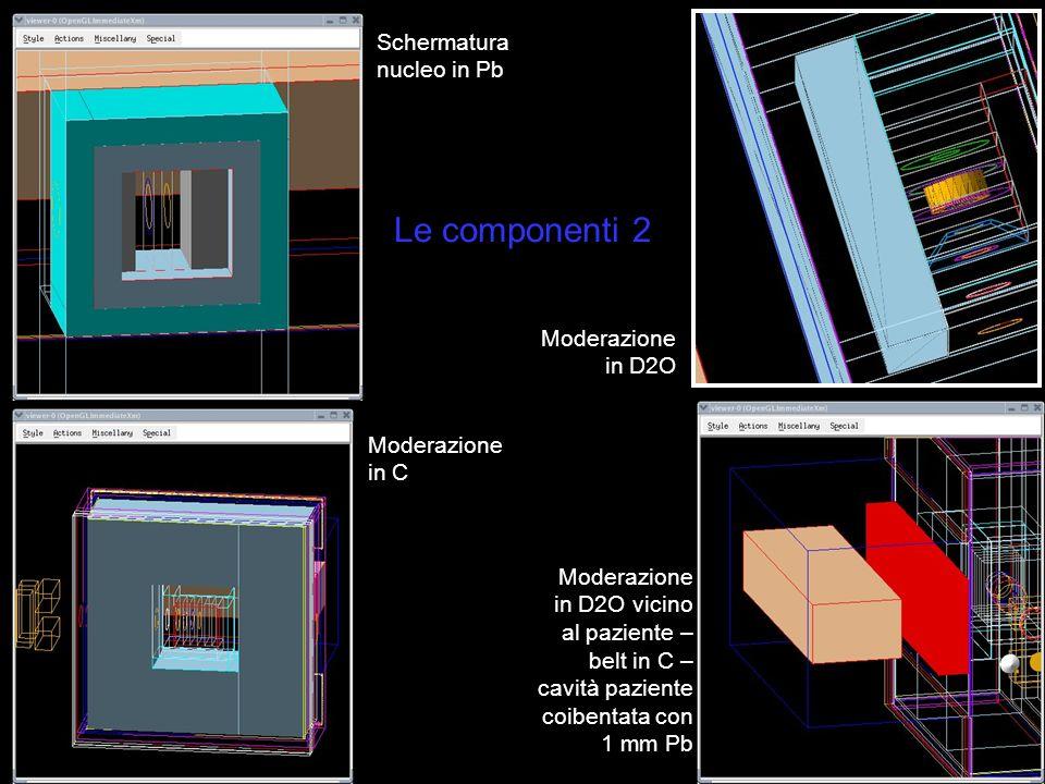 Le componenti 2 Schermatura nucleo in Pb Moderazione in D2O
