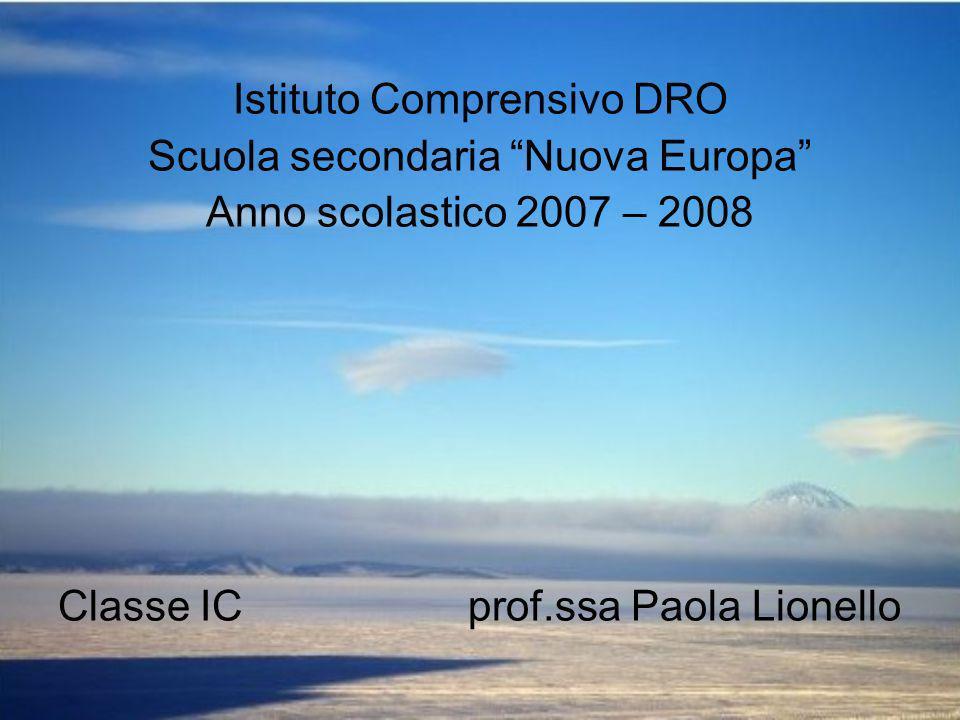 Istituto Comprensivo DRO Scuola secondaria Nuova Europa