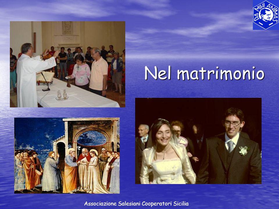 Nel matrimonio Associazione Salesiani Cooperatori Sicilia